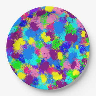 Paint Splatter Paper Plate