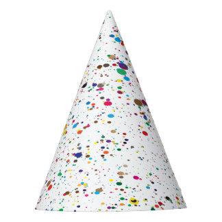 Paint Splatter Party Hat