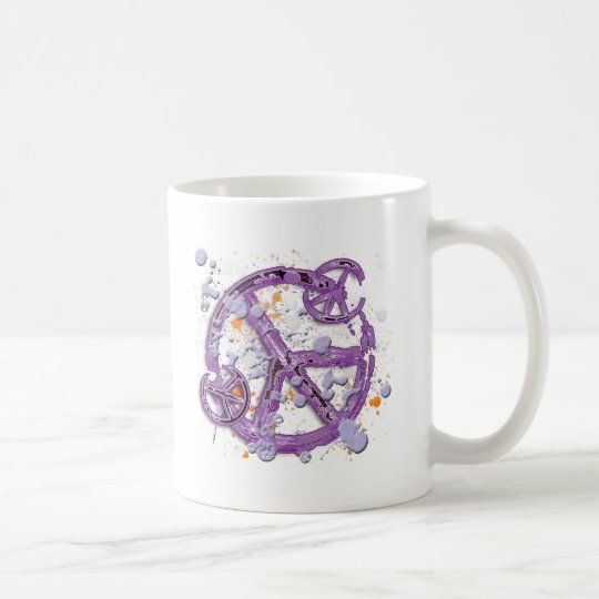 Paint Splatter Peace Signs Coffee Mug