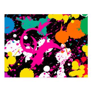 Paint Splatter Postcard