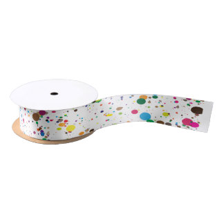 Paint Splatter Ribbon Satin Ribbon