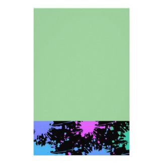 Paint Splatter Stationery Design