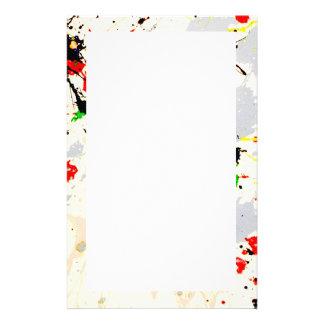 Paint Splatter Stationery
