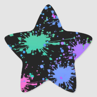 Paint Splatter Star Sticker