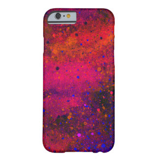 Paint Splatter Texture in Red Pink and Blue Barely There iPhone 6 Case