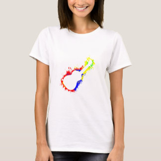 Paint Splatter Ukulele T-Shirt