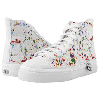 """Paint Splatter"" ZIPZ® High Tops"
