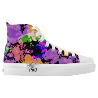 Paint Splattered Black Hi Top Skate