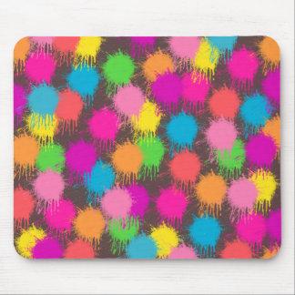 Paint Splattered Mousepad