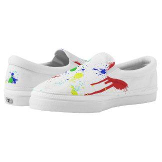 Paint Splattered Zipz Slip On Shoe