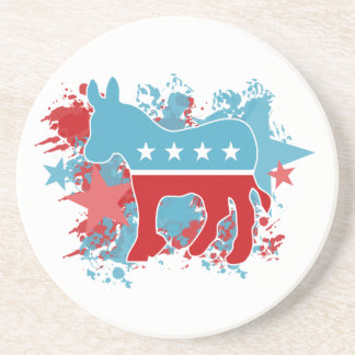 Paint Splatters Democrat Donkey Beverage Coaster