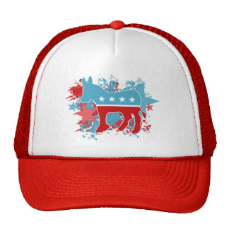 Paint Splatters Democrat Donkey Cap
