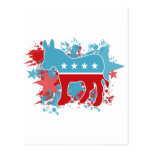 Paint Splatters Democrat Donkey Postcard