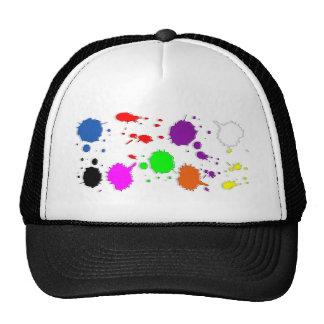 Paint Splatters Mesh Hats