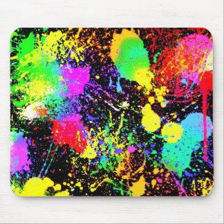 Paint splatters mouse pad