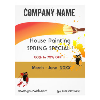 Paint Splatters Painter House Painting Maintenance Flyer