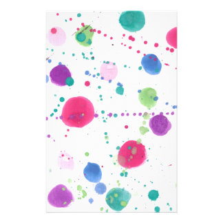 Paint Splatters Stationery Paper