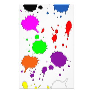 Paint Splatters Stationery Paper