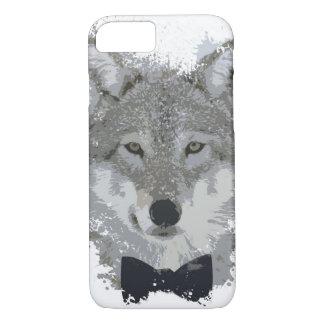 Paint Splotch Wolf w/ BowTie iPhone 8/7 Case