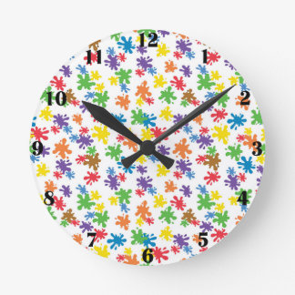 Paint Splotches Clock