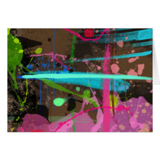 Paint splotches note card