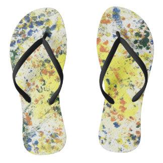 Paint Spots Flip Flops