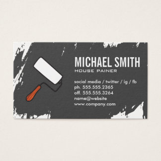 Paint Stokes Gray Business Card