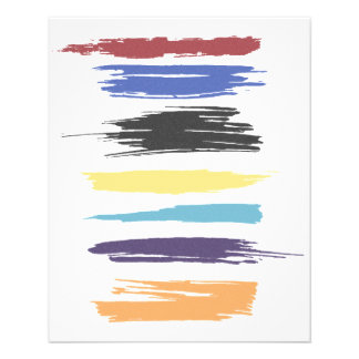 Paint Strokes Artistic Abstract Color (distressed) Personalized Flyer