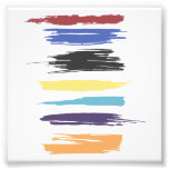 Paint Strokes Artistic Abstract Colour Streaks