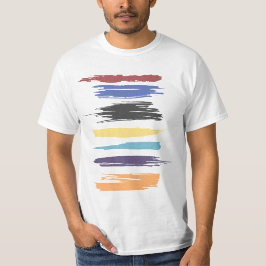 Paint Strokes Artistic Abstract Colour T-Shirt
