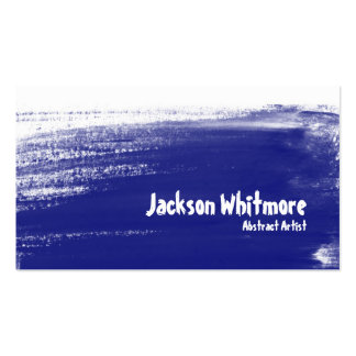 Paint Strokes - Blue Business Card Template