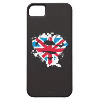 Paint Strokes British S-Shield iPhone 5 Case