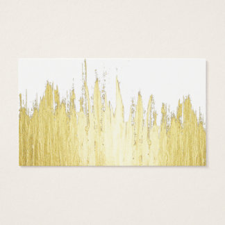 Paint Strokes in Faux Gold