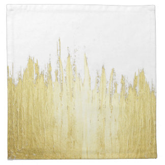 Paint Strokes in Faux Gold Napkin
