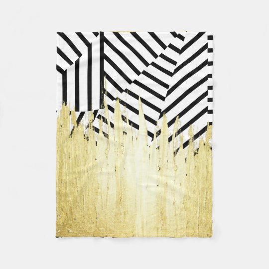 Paint Strokes in Faux Gold on Black &