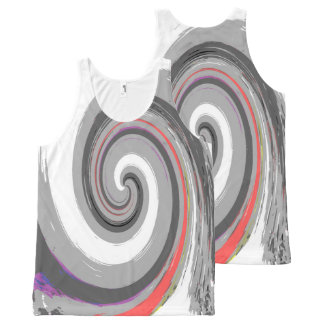 paint swirl All-Over print tank top