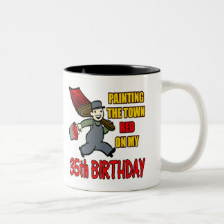 Paint The Town 35th Birthday Gifts Two-Tone Mug