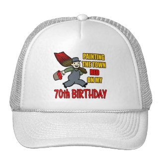 Paint The Town 70th Birthday Gifts Hats