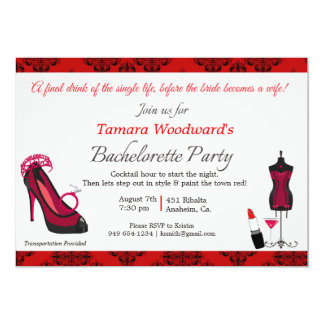 Paint the Town Bachelorette Party 13 Cm X 18 Cm Invitation Card