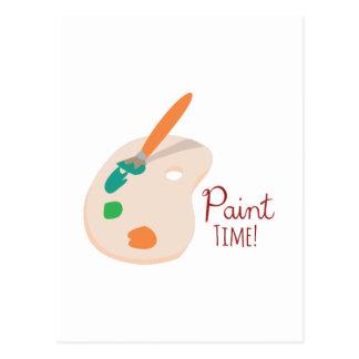 Paint Time! Postcard