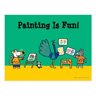 Paint with Maisy! Postcard