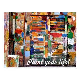 paint your life! postcard