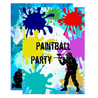 Paintball 10th Birthday Card