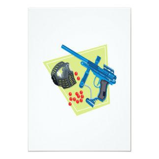 Paintball 3 13 cm x 18 cm invitation card