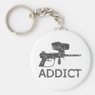 Paintball Addict Basic Round Button Key Ring
