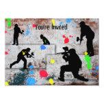 Paintball Battle 13 Cm X 18 Cm Invitation Card