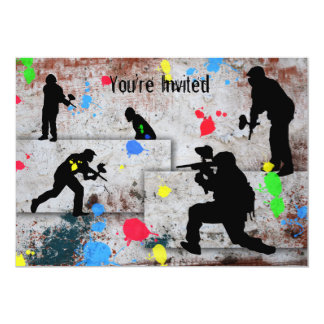 Paintball Battle Invited Card