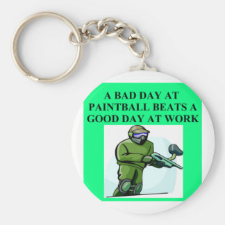 paintball beats work basic round button key ring