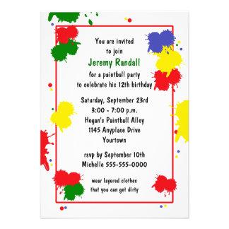 Paintball Birthday Invitation