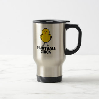 Paintball Chick 15 Oz Stainless Steel Travel Mug